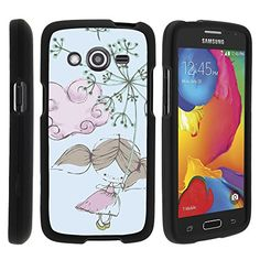 Buy Samsung Galaxy Avant Case, Slim Fit Snap On Cover with Unique, Customized Design for Samsung Galaxy Avant SM-G386T (T Mobile, MetroPCS) from MINITURTLE | Includes Clear Screen Protector and Stylus Pen - Dandelion Girl NEW for 9.99 USD | Reusell
