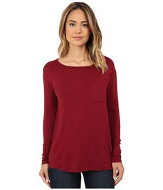 CJ by Cookie Johnson CJ by Cookie Johnson  Sleeve Pocket Tee Burgundy Womens Sleeve Pullover for 34.99 at Im in! #sale #fashion #I'mIn