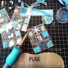 """Love using my Fuse tool to make these little micro-pocketletters  Thanks @wermemorykeepers for making crafting fun! #maythefusebewithyou"""