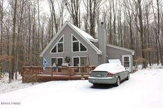 Low Maintenance Chalet in full amenity community. Enjoy access to Lake Wallenpaupack and 2 other private non motor boating lakes plus pools, beaches, fitness and much more. Home is currently being used as a 3 bedroom or could be used as two bedroom plus a family room in the addition off the right.