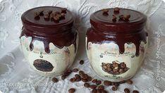 Mason Jar Crafts, Mason Jars, Sugar Ants, Decoupage Jars, Paper Mesh, Glass Bottle Crafts, Yellow Paper, Country Paintings, Painted Jars