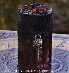 MORRIGAN Raven Warrior Goddess Fusion Pillar by ArtisanWitchcrafts