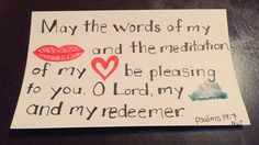 Verses for scripture wall