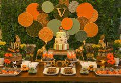 Aniver Jungle Theme Birthday, Minnie Birthday, Sons Birthday, 2nd Birthday Parties, Safari Party, Jungle Party, Baby Party, Lion King Baby Shower, Party Decoration