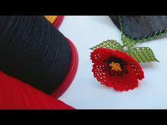 ÇOK SEVİLEN GELİNCİK MODELİNİ YAZMAYA UYGUN BOYUTTA YAPTIM BUYRUN İZLEYİN ( flower needlelace DIY ) - YouTube Embroidered Clothes, Baby Knitting Patterns, Flower Patterns, Diy And Crafts, The Creator, Embroidery, Lace, Sultan, Youtube