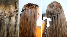 coiffure de fille avec tresse derrière