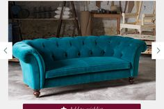 Tips That Help You Get The Best Leather Sofa Deal. Leather sofas and leather couch sets are available in a diversity of colors and styles. A leather couch is the ideal way to improve a space's design and th Teal Velvet Sofa, Teal Sofa, Home Decor Furniture, Living Room Furniture, Living Room Decor, Bedroom Decor, Sofa Couch, Couch Set, Sofa Deals
