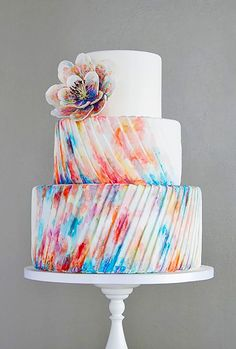 Gorgeous Textured Wedding Cakes ❤ See more: http://www.weddingforward.com/textured-wedding-cakes/ #weddings