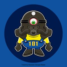 Fallout Minion, Vector cartoon