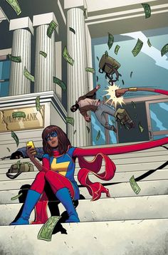 The fan-favorite, critically acclaimed, amazing new series continues as Kamala Khan proves why she''s the best (and most adorable) new super hero there is! Marvel Volume Generation Why Text by G. Willow Wilson --someone please buy me the new Ms Marvel Comic Book Characters, Marvel Characters, Comic Character, Comic Books Art, Comic Art, Character Profile, Fictional Characters, Captain Marvel, Captain America
