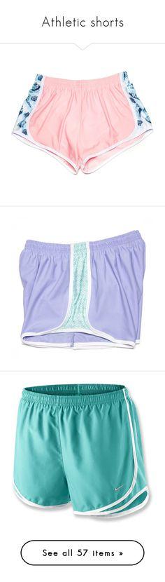 """Athletic shorts"" by tjrsis ❤ liked on Polyvore featuring shorts, bottoms, beach shorts, formal shorts, summer shorts, long shorts, krass & co., pajamas, activewear and activewear shorts"