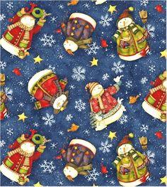 {Wholesale} Winter Magic, Winter Magic, sx22873-DKBlu1, Fabric Catalog, Needlecraft, Inc.
