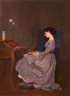 Toulmouche, Auguste (b,1829)- La Lettre, 1867