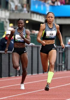 Allyson Felix and Jeneba Tarmoh Photos Photos: 2012 U. Body Inspiration, Fitness Inspiration, Olympic Track And Field, Track Field, Allyson Felix, Track Team, Olympic Sports, Olympic Team, Fit Black Women