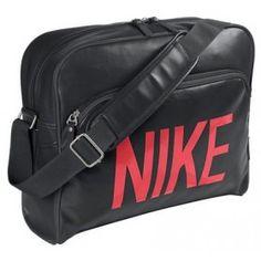 8f36d1fe9e Nike Heritage SI Track Retro BA4358 Black Red Unisex Shoulder Bag Track Bag
