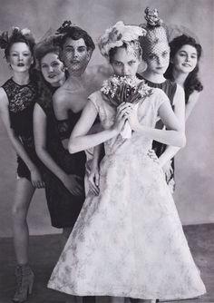 take a more original wedding photo.   Arthur Elgort, Vogue Magazine