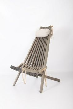 The EcoFurn pine chair is a natural wood and rope folding chair. Available in several types of wood it has two seating positions and is a very sustainable option Pine Chairs, Outdoor Chairs, Outdoor Decor, Eco Furniture, Outdoor Furniture, Al Fresco Dining, Salvaged Wood, Garden Chairs, Folding Chair