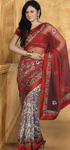red-off-white-cotton-saree-10746