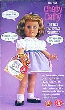 """Chatty Cathy.  The most memorable doll of my childhood.  Next was the """"bride doll"""""""