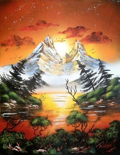 Dusk 14x18 inch spray painting by RS10SprayPaint on Etsy, $80.00