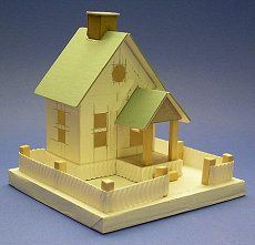 Excellent patterns and instructions to help recreate vintage style Putz houses.