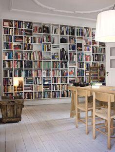 Living room shelves bookshelves reading nooks Ideas for 2019 Living Room Shelves, Wall Bookshelves, Bookshelf Design, Bookcases, Book Shelves, Home Libraries, Library In Home, Cozy Library, Library Wall