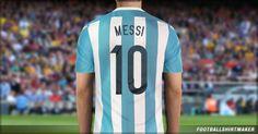 La camiseta local de Argentina de Messi