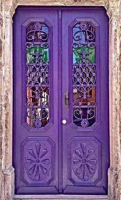 Knobs And Knockers, Door Knobs, Door Handles, Cool Doors, Unique Doors, Entrance Doors, Doorway, Doors Galore, Purple Door