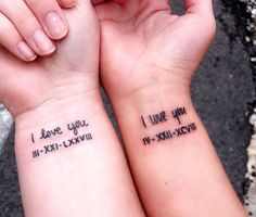 Matching Mother & Daughter Tattoo Ideas You'll Both Love - Tattoos - Small Matching Tattoos, Matching Best Friend Tattoos, Best Couple Tattoos, Matching Tattoos For Sisters, Couples Matching Tattoos, Couple Tattoo Ideas, Bff Tattoos, Mother Tattoos, Cute Sister Tattoos