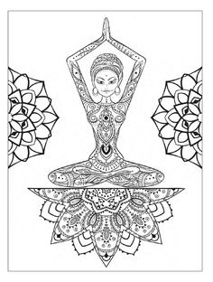 #ClippedOnIssuu from Yoga and meditation coloring book for adults: With Yoga Poses and Mandalas