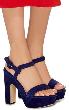These **Paul Andrew** Stanton heels feature a platform sole and straps at the toe and ankle.