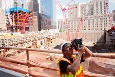 Filming in the early days Photo copyright © Joe Woolhead #worldtradecenter #newyork #rebuilding #rebuildingmovie #tradecenter