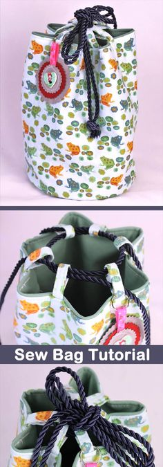 DIY Lunch Bag Sew Tutorial http://www.free-tutorial.net/2017/10/lunch-bag-tutorial.html