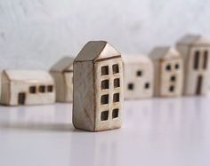Handmade+polymer+clay+houses+set+of+7+...+instant+by+SkyeArt