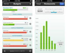 Chart graph data visualization example: Mint.com iPhone app
