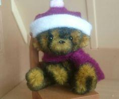 Miniature teddy Pipe Cleaner ooak handmade by Tiny Bear Pals in Dolls & Bears, Bears, Artist   eBay!