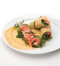 Crepes With Shrimp And Green Papaya (Lumpia Sariwa)