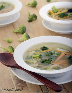 Broccoli Broth ( Healthy Soups and Salads Recipe)
