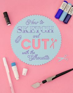how to sketch and cut with the silhouette - full video tutorial on how to sketch and cut at the same time using the Silhouette Cameo 3 or Silhouette Curio - this is a great technique for making tags, labels, party favors, and more
