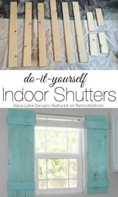 Tutorial   How To Build Indoor Shutters | Aqua Lane Designs On  Remodelaholic.com #. Indoor ShuttersInterior Window ShuttersInterior ...