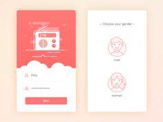 Login & Choose Gender illustration gender app radio fm page guide login Web Design, Login Page Design, App Ui Design, Mobile App Design, User Interface Design, Flat Design, App Login, Mobile Application Design, App Design Inspiration