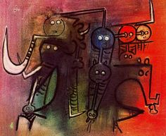 Wifredo Lam, The Brothers, 1973 Art Experience:NYC www.artexperience...