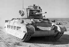 [Photo] Matilda tank of the UK 7th Royal Tank Regiment in North Africa, 19 Dec…