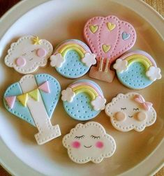 Amor Ideas, Cloud Party, Kawaii Room, Fabric Toys, Cute Desserts, Cooking With Kids, Rainbow Dash, Princess Birthday, Cute Cakes