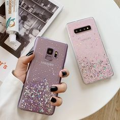 Glitter Bling Sequins Phone Case For Samsung Galaxy Plus Note 8 Note 9 Soft Silicone Clear Luxury Case CoverCompatible with: for samsung galaxy PlusFeature: glitter bling stars sequins foils phone caseFunction: anti-knock; Cases Iphone 6, Bling Phone Cases, Galaxy Phone Cases, Glitter Phone Cases, Cute Phone Cases, Samsung Cases, Iphone 8 Plus, Samsung Galaxy, Cell Phone Covers