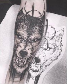 40 Best Wolf Head Tattoo Designs and Ideas (2018) | Wolf, Wolf ...#sleeve #tattoo #tattooideas #wolf