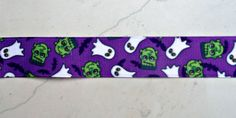 frankensteins and ghosts printed on purple 7/8  by IsamayDesigns, $1.55