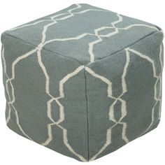 POUF-25 - Surya   Rugs, Pillows, Wall Decor, Lighting, Accent Furniture, Throws, Bedding