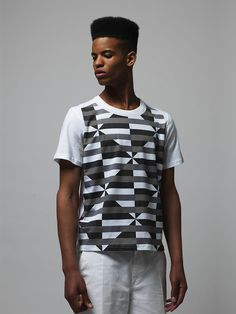 David David — Classic t-shirt, print French Riviera BW