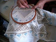 Coffeebean's Dailies: More Hardanger projects from my buds today...